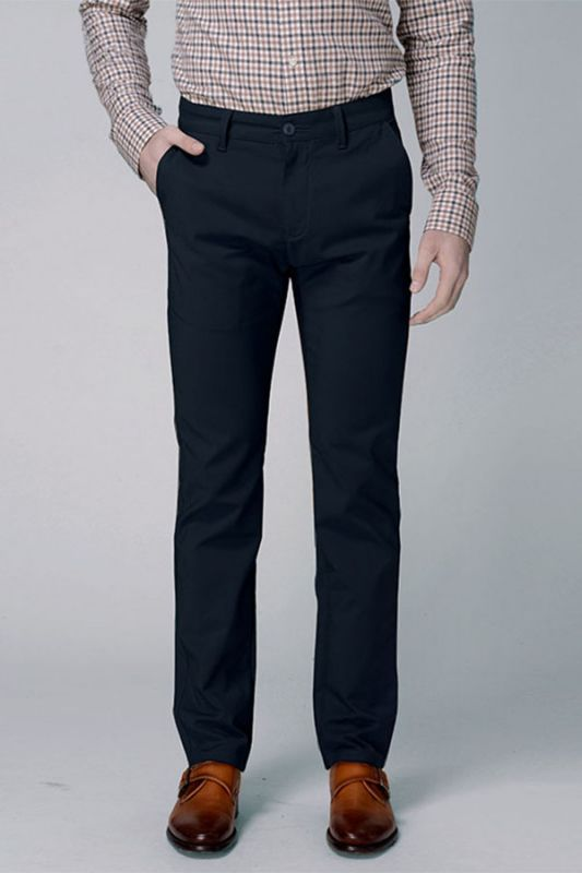 Dark Navy Cotton Pants Business Trousers for Men