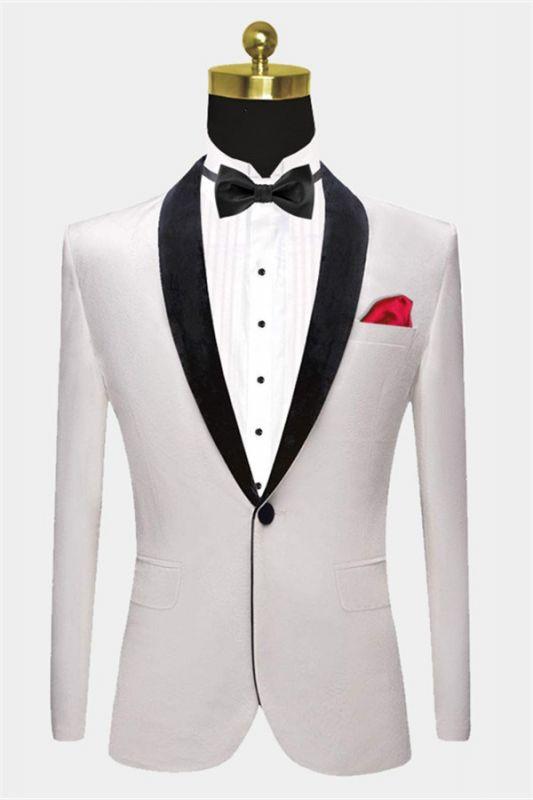 White Velvet Blazer Jacket | Formal Business Slim Fit Dinner Suits