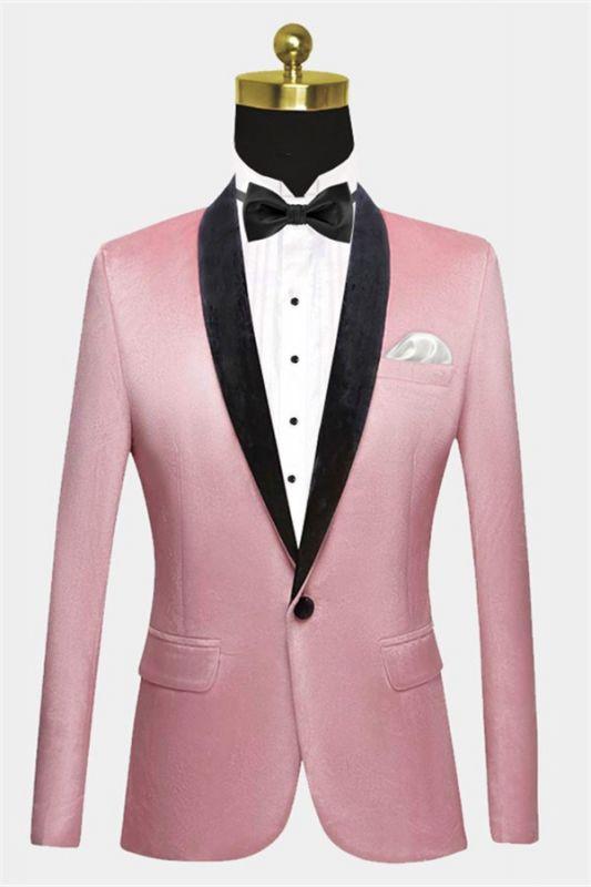 Light Pink Velvet Prom Suits for Men | Modern Mens Slim Fit Blazers