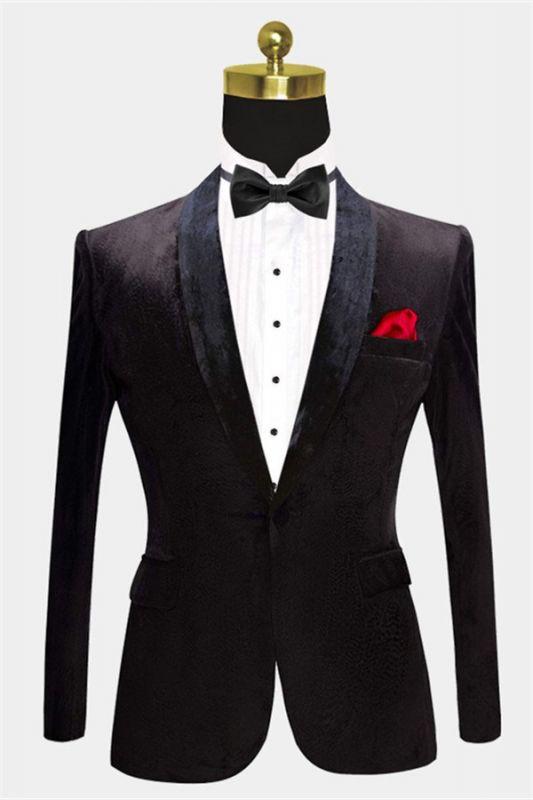 Jaime Black Velvet Dinner Jacket   Formal Business Men Suit