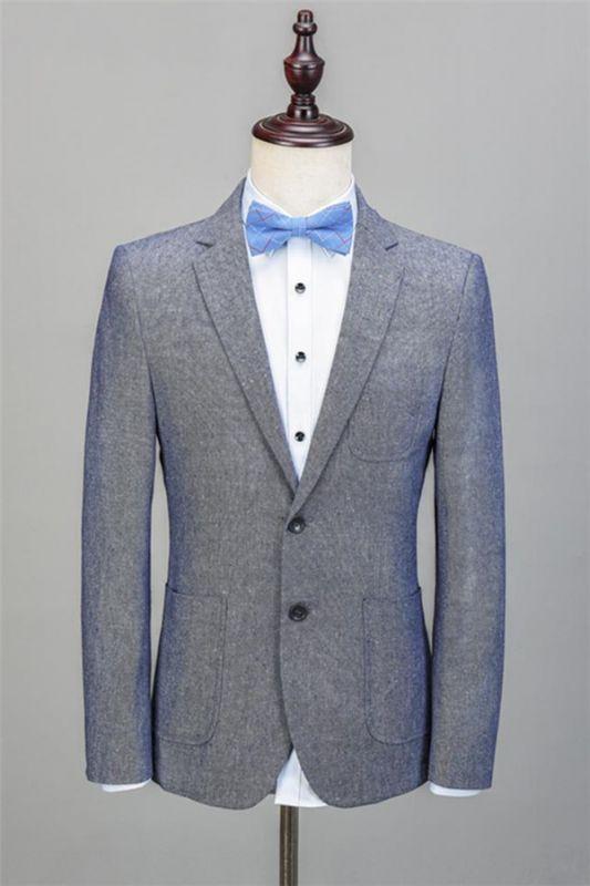Gray Formal Business Men Blazer   New Arrival Notched Lapel Tuxedo