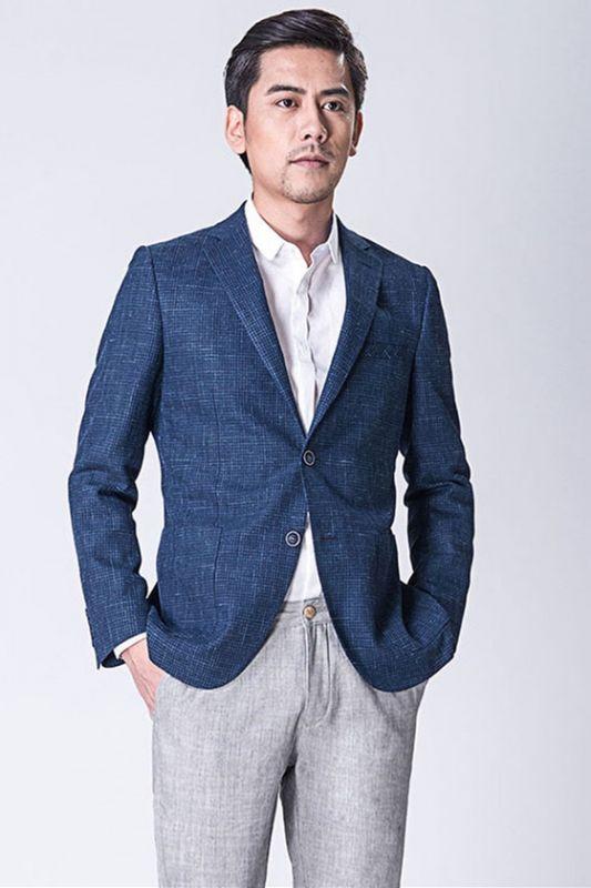 Dark Blue Business Jacket for Men   Blazer