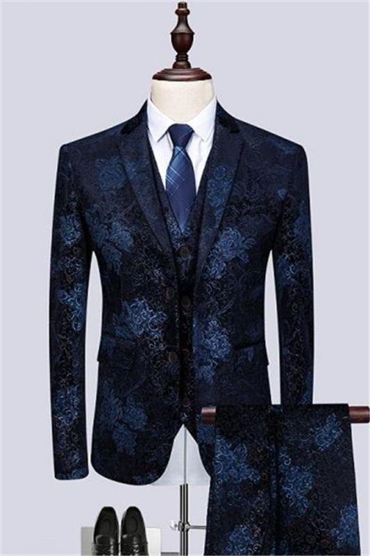 Formal Men Suits for Wedding Prom   Navy Blue Business Man Blazer Groom Wedding Tuxedos