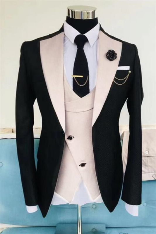 Black Wedding Tuxedos For Men | Formal Dinner Prom Outfit Suits