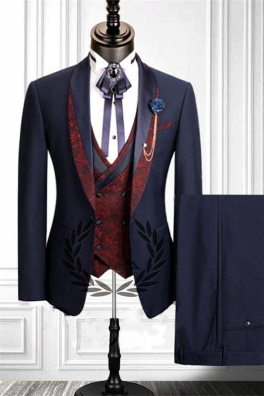 Navy Blue Dress Suits Mens Tuxedo | Bridesgroom Suit Dinner Party Fitting Suit