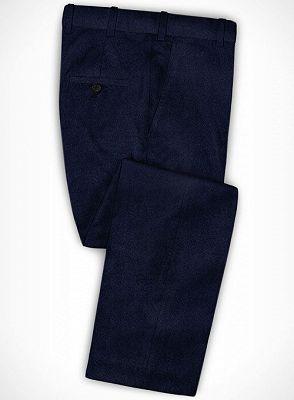 Dark Blue Formal Business Men Suits   Blend Wedding Groomsmen Suits_3