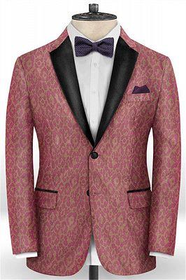 Pink Handsome Mens Youth Suits | Tuxedo Men Blazer_1