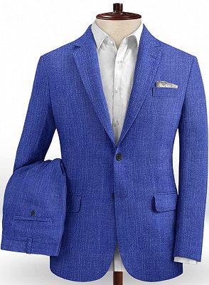 Royal Blue Notched Lapel Men Tuxedo | Prom Outfits Suits_2