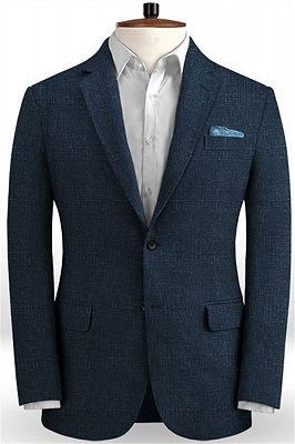 Dark Blue Customized Prom Outfits Suits | Wedding Groomsmen Tuxedo Online_1