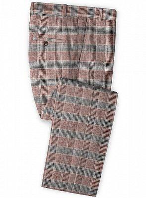 Grid Jacket Tuxedo   Business Notch Lapel Men Suits_3