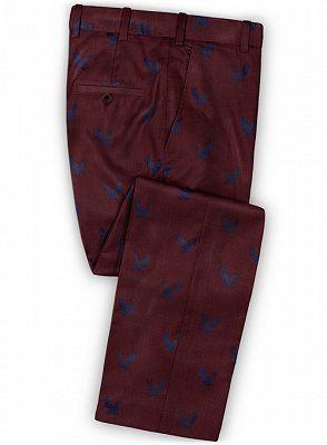 Burgundy Prom Tuxedo for Men | Young Men Suits Online_3