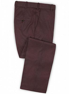 Classic Burgundy Two Button Men Suit | 2 Pieces Business Men Wedding Suits_3