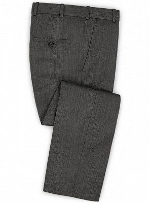 Customized Classic 2Pcs Men Suit Set   High-end Solid Color Slim Business Tuxedo_3
