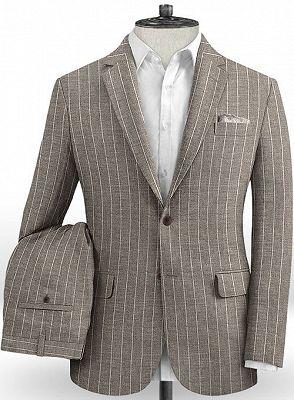 Fashion Striped Slim Fit Men Suits Online   Newest Two Piece Business Tuxedo_2