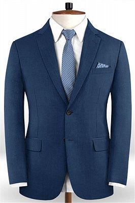Gentleman Dark Navy New Stlyle Suits Tuxedo   Skinny Blazers Business Casual Prom Tuxedo_1