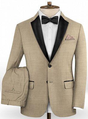 Khaki Business Men Suits | Slim Fit Tuxedo Online_2