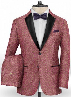 Pink Handsome Mens Youth Suits | Tuxedo Men Blazer_2