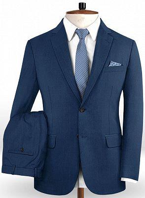 Gentleman Dark Navy New Stlyle Suits Tuxedo   Skinny Blazers Business Casual Prom Tuxedo_2