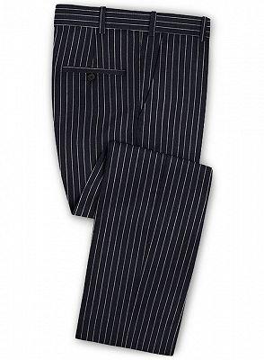 Dark Blue Striped Formal Men Suits Online | Business Slim Fit Tuxedo_3