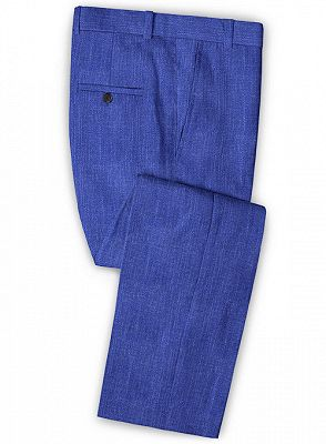 Royal Blue Notched Lapel Men Tuxedo | Prom Outfits Suits_3