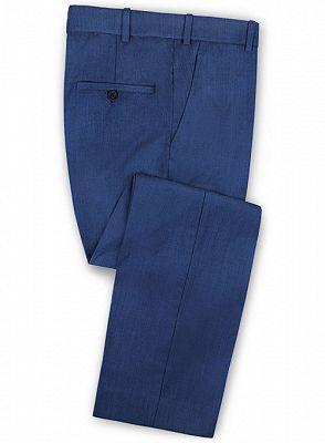 Blue Prom Suits   Fashion Two Pieces Men Suits_3