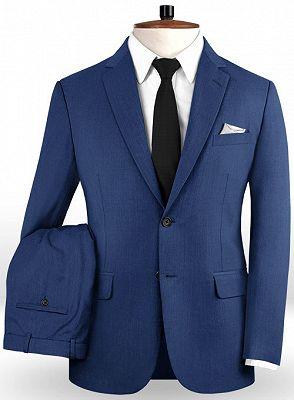 Blue Prom Suits   Fashion Two Pieces Men Suits_2