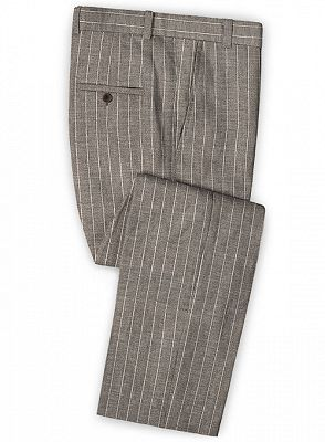 Fashion Striped Slim Fit Men Suits Online   Newest Two Piece Business Tuxedo_3