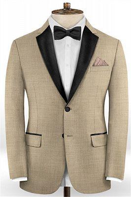 Khaki Business Men Suits | Slim Fit Tuxedo Online_1