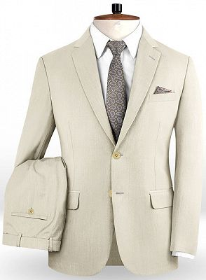 Off White Business Men Suits | Bespoke Classic Wedding Suits For Men_2