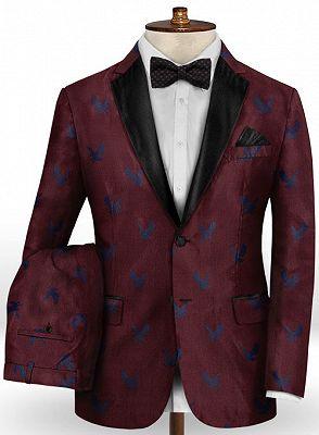 Burgundy Prom Tuxedo for Men | Young Men Suits Online_2