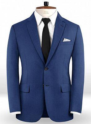 Blue Prom Suits   Fashion Two Pieces Men Suits_1