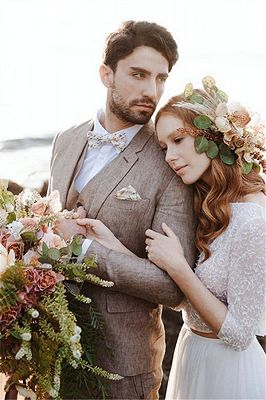 Khaki Linen Summer Beach Mens Classic Suits | 2020 Groom Wedding Tuxedos with 3 Pieces_4