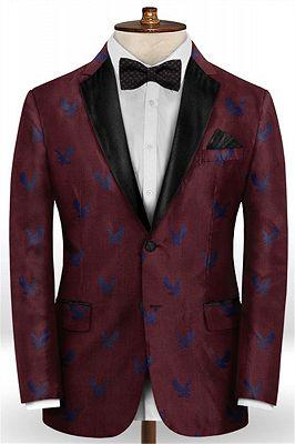 Burgundy Prom Tuxedo for Men | Young Men Suits Online_1