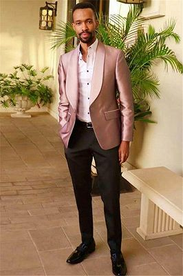 Tailor Made Light Pink  Men Suits | Fashion Slim Fit Casual Tuxedo for Prom_1