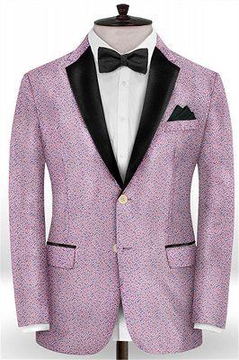 Lavender Slim Fit Prom Outfits Men Suits | Fashion Two Pieces Jacquard_1