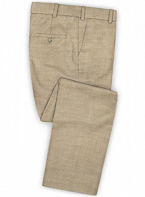 Khaki Business Men Suits | Slim Fit Tuxedo Online_3