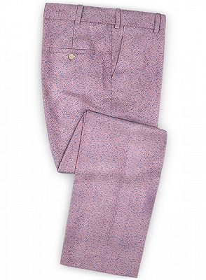 Lavender Slim Fit Prom Outfits Men Suits | Fashion Two Pieces Jacquard_3