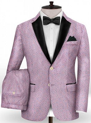 Lavender Slim Fit Prom Outfits Men Suits | Fashion Two Pieces Jacquard_2
