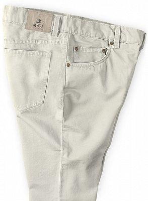 New Khaki Casual Slim Fit Formal Party Pants Slacks_3