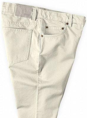 Offwhite Casual Pants Thin High Waist Stretch Mens Slacks_3