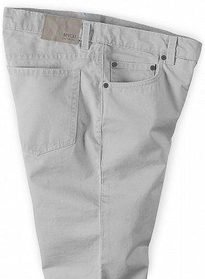 Fashion Trousers Casual Business Slim Fit Men Suit Pants_3