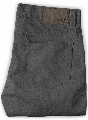 Braydon Grey Zipper Fly Stylish Business Dress Pants_2