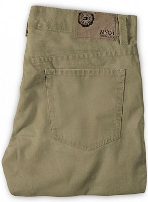 Slim Fit Jeans Cotton Custom Made Pants with Zipper Fly_2