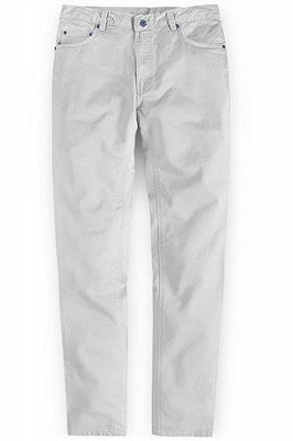 Ivory Fashion Slim Fit Casual Cotton Long Slim Fit Pants_1