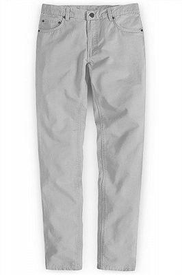 Fashion Trousers Casual Business Slim Fit Men Suit Pants_1