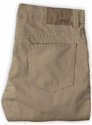 New Mens Slim Fashion Solid Color Business Casual Suit Pants_2