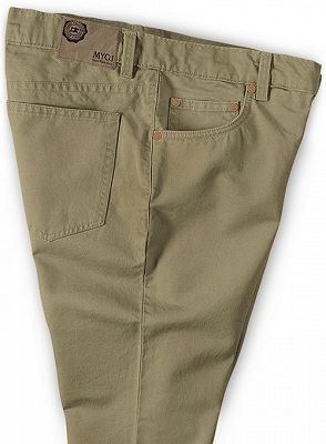 Slim Fit Jeans Cotton Custom Made Pants with Zipper Fly_3