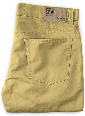 Gold Mens Solid Color Slim Fit Male Social Business Casual Skinny_2