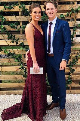 Bespoke Mavy Blue Men's Suit | Notch Lapel Prom Party Suit_1