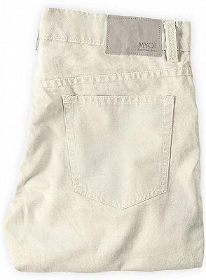 Offwhite Casual Pants Thin High Waist Stretch Mens Slacks_2